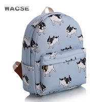 Casual Dogs Stylish Korean Fashion Travel Backpack = 4887458308