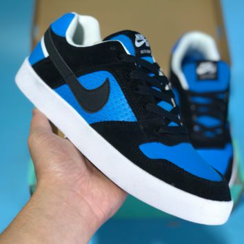 DCCK2 N397 Nike SB Deltea Air Force 1 AF1 Vulc Low Casual Skate Shoes Black Blue