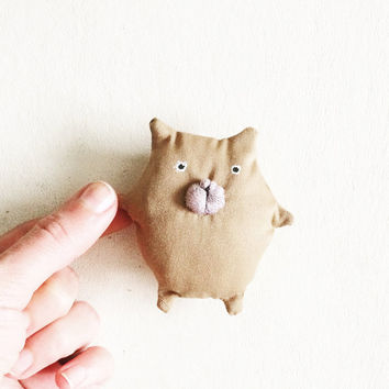 Kawaii Plush Cat Toy Animal Brooch - Funny Cat - Fat Cat Doll - Kawaii Kitten - Kity Plush Animal - Stuffed Cat Toy - Miniature Cat Fairy