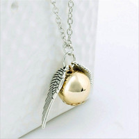 New Fashion 'Harry Potter' Golden Snitch Pendant Necklace = 1946665924