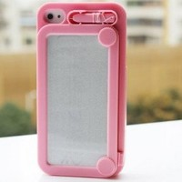 Pink MiniSuit Magic Retro Magic Magnetic Magnet Creative Drawing Board Doodle Case Protective Cover for iPhone 4 4G 4S + Gift 1pcs Insect Mosquito Repellent Wrist Bands bracelet:Amazon:Cell Phones & Accessories