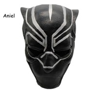 Black Panther Masks Movie Fantastic Four Cosplay Men's Latex Party Toy for Halloween