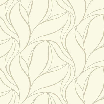 Sample Aubrey Wallpaper in Off White by Ronald Redding for York Wallcoverings