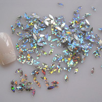 20g Silver Sequin Nail Art Decorations