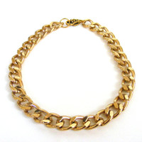 Gold Chunky Chain Necklace Trendy Hip Lightweight
