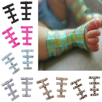 Baby Barefoot Gladiator Sandals feet Scales Geometric Arrows Pattern  Stretch Infant Barefoot Sandalsfor Summer Foot Decoration