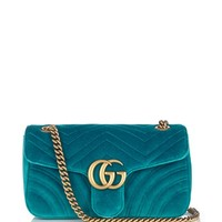 GG Marmont chevron-velvet shoulder bag | Gucci | MATCHESFASHION.COM US