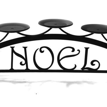 Wrought Iron Noel Table Top Center Piece Candle Holder