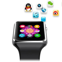 2016 New Pedometer Sleep Monitor Bluetooth Smart Watch with SIM Camera For Android Smart Phone of HUAWEI SAMSUNG HTC OPPO VIVO