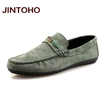 Leather & Suede Men Loafers Shoes Fashion Casual Men Driving Shoes Breathable Men Loafers Slip On Men Boat Shoes