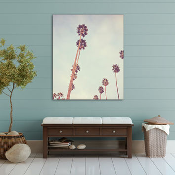 Streets of L.A. - Canvas Gallery Wrap - Palm Tree, Los Angeles,  MINT, California, SoCal, Cali, Whimsical, Photograph, Wall, Art, Hanging,