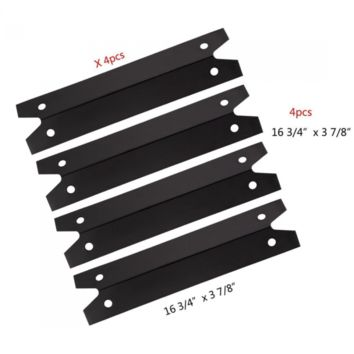 Hongso PPG311 (4-pack) BBQ Gas Grill Porcelain Steel Heat Plate, Heat Shield, He
