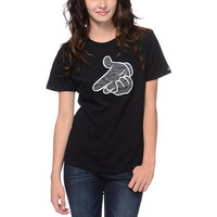 Crooks And Castles Girls Airguns Tiger Camo Black Tee Shirt at Zumiez : PDP