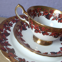Antique tea cup and saucer plate set vintage by ShoponSherman