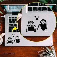 The Love of  WALL-E Robot Notebook Touchpad Decal Vinyl Cartoon Laptop Trackpad Sticker for Apple Macbook Pro/Air/Retina