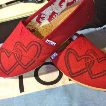 Heart TOMS Shoes by themattbutler on Etsy