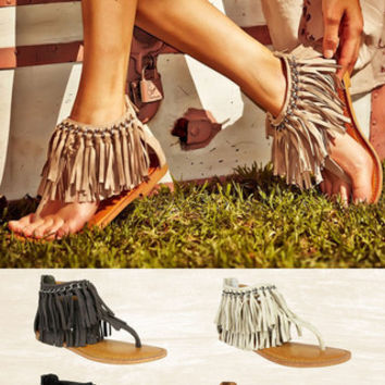 Keep The Peace Fringe Sandals