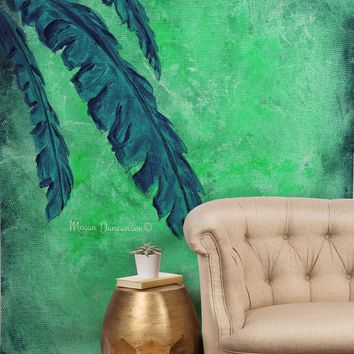 Madart Inc. Tropical Splash Aqua Tapestry | DENY Designs Home Accessories