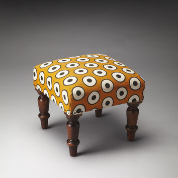 Accent Seating Samina Cotton Upholstered Stool