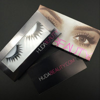 Huda Beauty False Eyelashes Messy Cross Thick Natural Fake EyeLashes. Professional Makeup