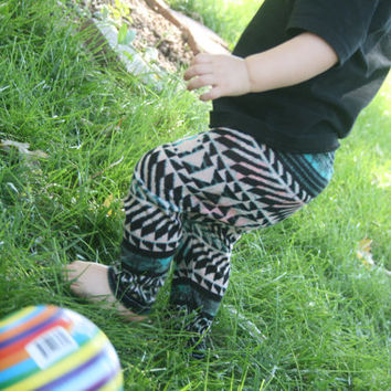 Baby Aztec Leggings Toddler Leggings Tribal Aztec Boy Girl Trendy Childrens Leggings - Made To Order Printed Stretchy Pants Toddler Fashion