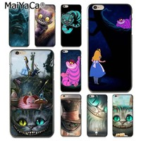 MaiYaCa Alice in Wonderland Cheshire Cat Soft Phone Accessories Cover Case for iPhone 8 7 6 6S Plus X XS XR XSMax 10 5 5S SE