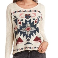 AZTEC LONG SLEEVE SWEATER TOP