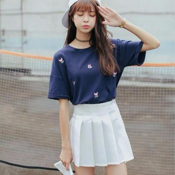 Tennis Pleated Mini Skirt