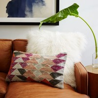 Woven Offset Triangles Pillow Cover