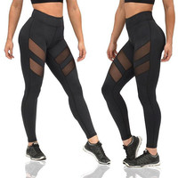 workout Legging women workout clothes for women female fitness legging clothing mesh legging push up high waist pants P0817