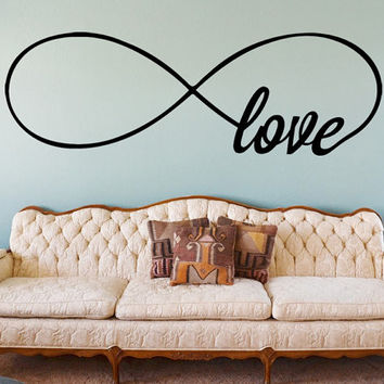 Infinity Love Wall Decal | Bedroom Wall Decals