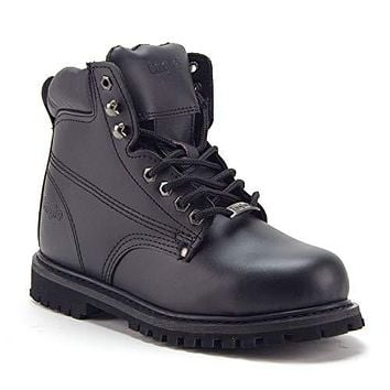 Men's 605S Genuine Leather Steel Toe Outdoor Construction Safety Work Boots