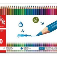 Caran d'Ache Fancolor Color Pencils, 40 Colors