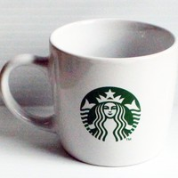Starbucks Coffee White 7.8oz Coffee Mug with Current Siren Logo