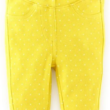 Infant Girl's Mini Boden Dot Print Jeggings,