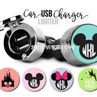 Personalized Disney USB Car Charger-Monogram Car Accessories