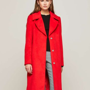 Red Statement Coat | Missselfridge