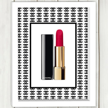 Chanel lipstick print, printable art, wall art, home decor,instant download