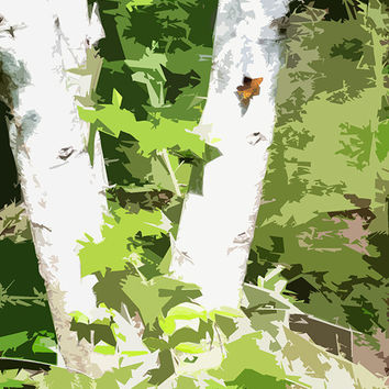 Butterfly On Tree Acrylic Popart Painting Free Shipping in the US