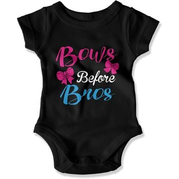 Bows Before Bros - Baby Bodysuit