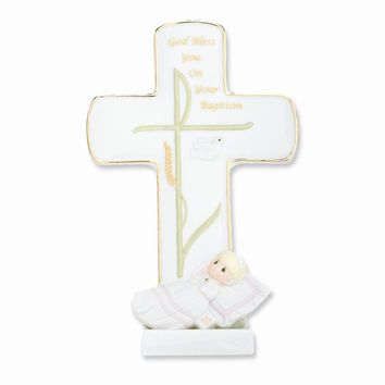 Precious Moments God Bless Your Baptism Girl Porcelain Figurine