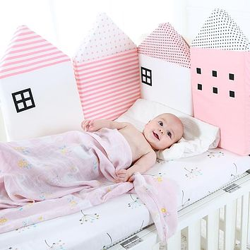 Baby Crib Bumper For Newborns | Nordic Bed Cushion | Baby Protector | 4Pcs Set