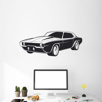 Vinyl Decal Style Wall Sticker Retro Car Decor for Garage Racing Speed Gift (g053)