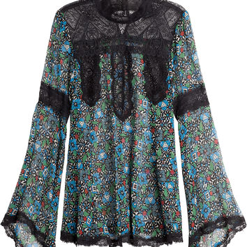 Anna Sui - Silk Blouse with Lace