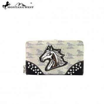 Montana West Horse Collection Wallet