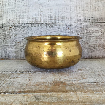 Brass Planter Vintage Brass Bowl Small Planter Garden Container Brass Succulent Planter Succulent Pot Gold Planter Brass Flower Pot