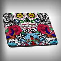 Sugar Skull Mouse Pad with Custom Graphics