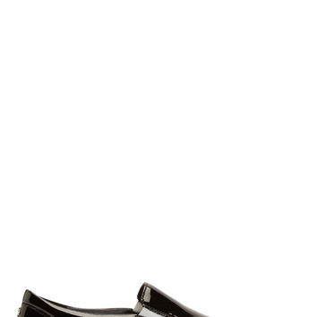 Dsquared2 Black Patent Leather Slip-on Sneakers