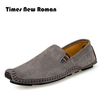 Men Leather Shoes Casual Men Loafers Flats Shoes Slip On Moccasins Men's Loafers pigsk
