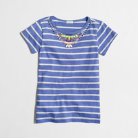 factory girls' stripe necklace tee